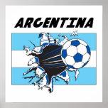 Affiche du football de football de l'Argentine