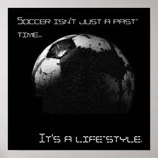 Affiche du football poster