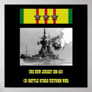 AFFICHE DU NEW JERSEY D USS BB-62