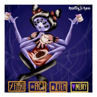 Affiche d'Undertale - de Muffet Perfect Poster