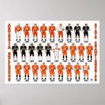 Affiche d'uniforme du football de bouledogues