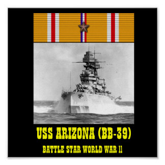 AFFICHE D'USS ARIZONA (BB-39)