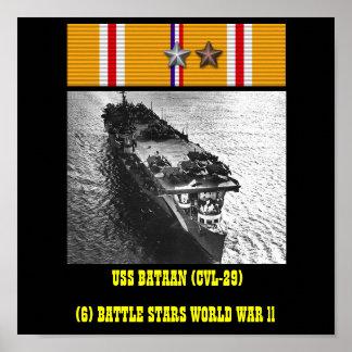 AFFICHE D'USS BATAAN (CVL-29)