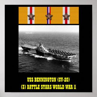 AFFICHE D'USS BENNINGTON (CV-20)