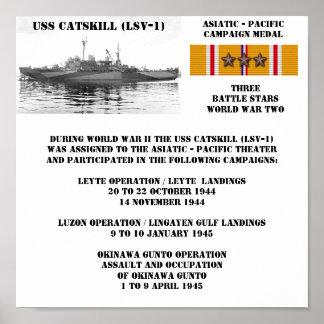 AFFICHE D'USS CATSKILL (LSV-1)