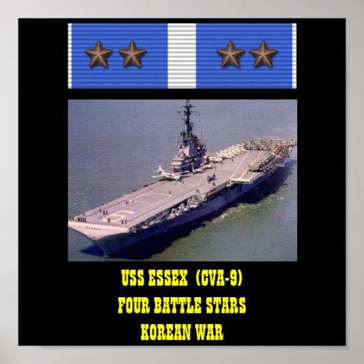 AFFICHE D'USS ESSEX (CVA-9)