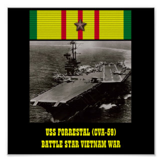 AFFICHE D'USS FORRESTAL (CVA-59)