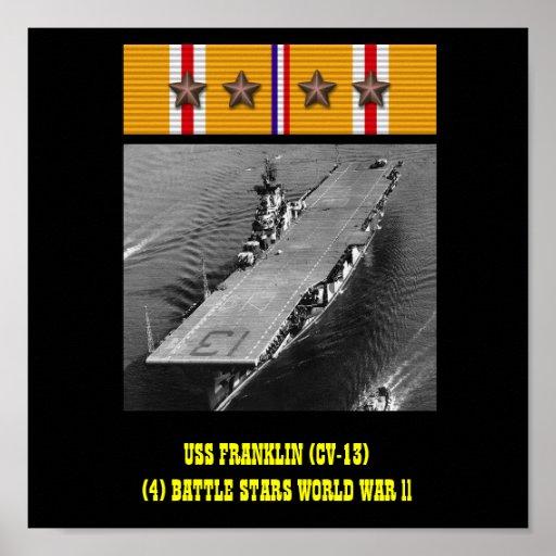 AFFICHE D'USS FRANKLIN (CV-13)