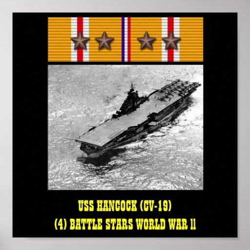 AFFICHE D'USS HANCOCK (CV-19)