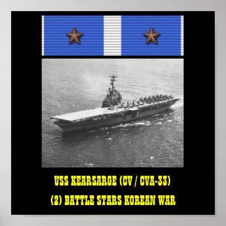 AFFICHE D'USS KEARSARGE (CV/CVA-33)