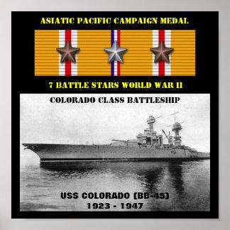 AFFICHE D'USS LE COLORADO (BB-45)