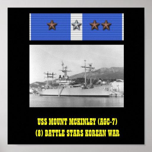 AFFICHE D'USS LE MONT MCKINLEY (AGC-7)
