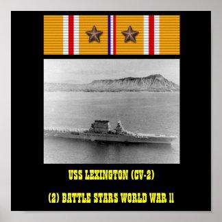 AFFICHE D'USS LEXINGTON (CV-2)
