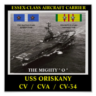 AFFICHE D'USS ORISKANY (CV/CVA/CV-34)