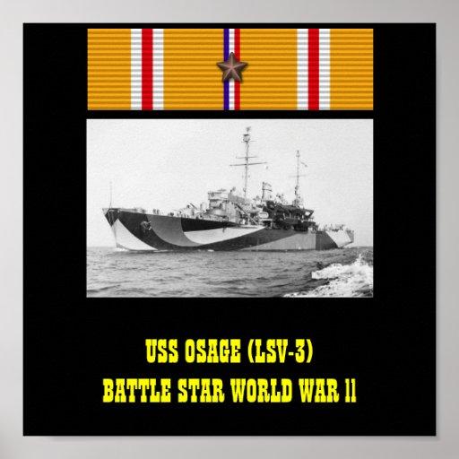 AFFICHE D'USS OSAGE (LSV-3)
