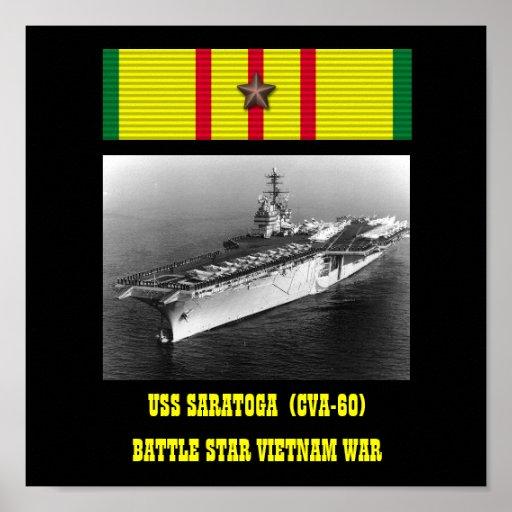 AFFICHE   D'USS SARATOGA (CVA-60)