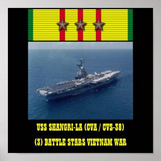 AFFICHE D'USS SHANGRI-LA (CVA/CVS-38)