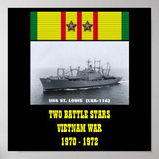 AFFICHE D'USS ST LOUIS (LKA-116)