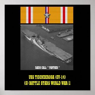 AFFICHE D'USS TICONDEROGA (CV-14)