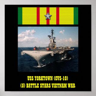 AFFICHE D'USS YORKTOWN (CVS-10)