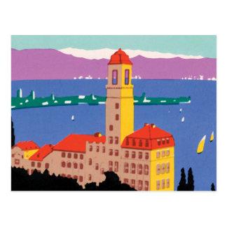 Affiche européenne de lac cartes postales