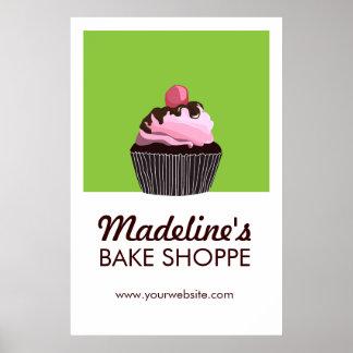 Affiche faite sur commande d'affaires de boulanger