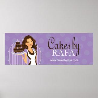 Affiche faite sur commande mignonne de boulangerie