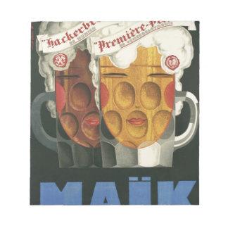 affiche française originale 1929 d'art déco de blocs notes