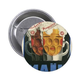 affiche française originale 1929 d'art déco de macaron rond 5 cm