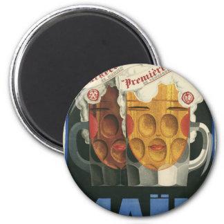 affiche française originale 1929 d'art déco de magnet rond 8 cm