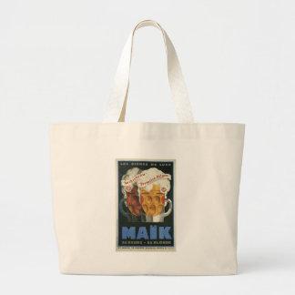 affiche française originale 1929 d'art déco de sac en toile jumbo