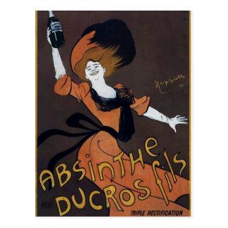 Affiche française vintage d absinthe carte postale