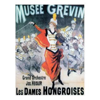 Affiche française vintage de musique carte postale