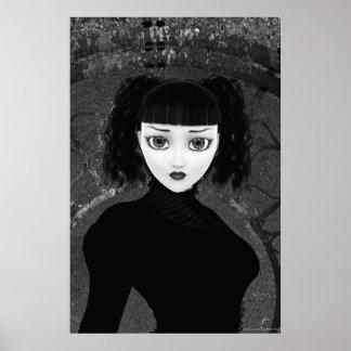 Affiche gothique d'illustration d'âme cassée