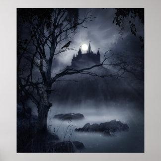 Affiche gothique d'imaginaire de nuit