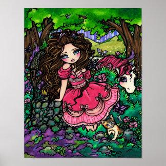 Affiche Hannah Lynn d art d imaginaire de princess