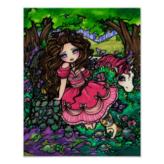 Affiche Hannah Lynn d'art d'imaginaire de princess
