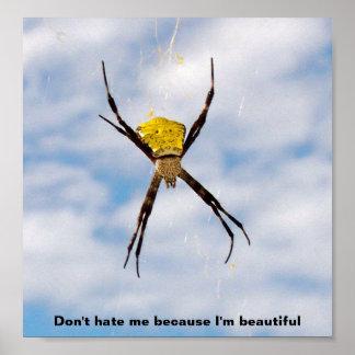 Affiche hawaïenne d'araignée de jardin