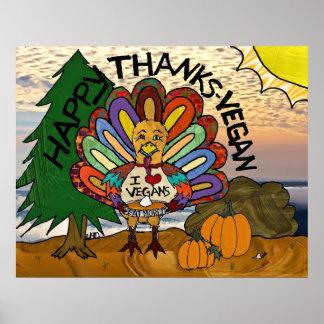 Affiche heureuse de la Turquie de thanksgiving de