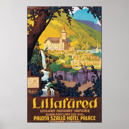 Affiche hongroise de voyage de Lillafured