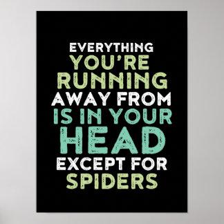 Affiche inspirée et de motivation drôle de