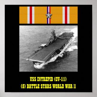 AFFICHE INTRÉPIDE D'USS (CV-11)