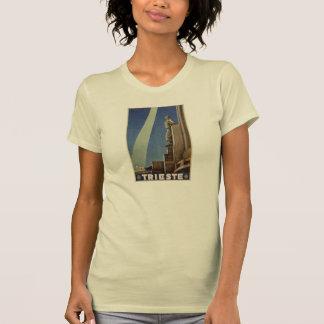 Affiche italienne de voyage de Trieste d'art déco T-shirt