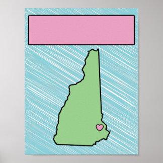Affiche nommée du New Hampshire de crèche