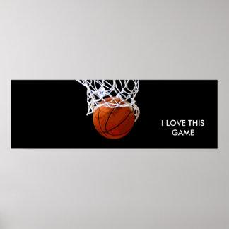 Affiche panoramique de basket-ball