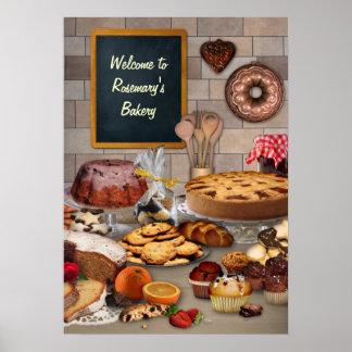 Affiche personnalisable de boulangerie