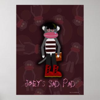 Affiche personnalisable de singe de chaussette d'E