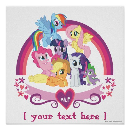 Affiche personnalisée de poneys