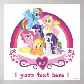 Affiche personnalisée de poneys poster