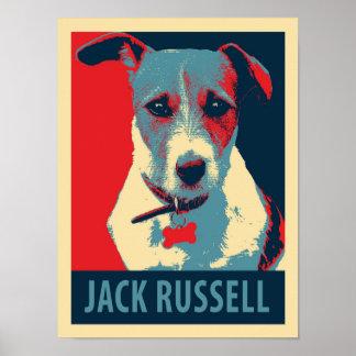 Affiche politique de parodie de Jack Russel